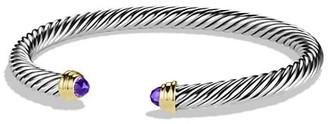 David Yurman Cable Classics Bracelet with Gemstone & 14K Yellow Gold