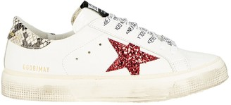 Golden Goose May Glitter Star Low-Top Sneakers