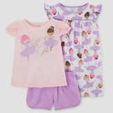 Just One You made by carter Toddler Girls' Three-Piece Pajama Set with Gown Purple - Just One You Made by Carter's®