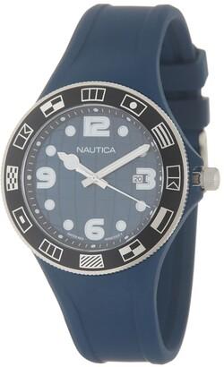 Nautica Men's Beach Silicone Quartz Watch, 40mm