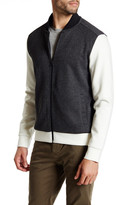 Kenneth Cole New York Mix Media Zip Bomber Jacket