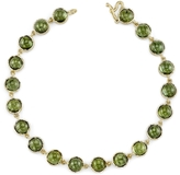 Irene Neuwirth Cabochon Green Tourmaline Chain Bracelet