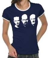 Walter Touchlines Girlie Ringer Ladies' Contrast T-Shirt Jesse Mike Faces blue Size:S