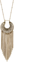 Stephan & Co Brassy Fringe Pendant Necklace