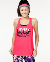 Material Girl Active Juniors' Graphic Tank Top with Headband, Only at Macy's