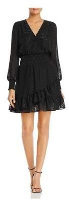 Michael Kors MICHAEL Womens Chiffon Polk-a-Dot Cocktail Dress