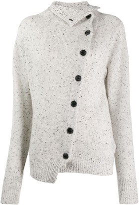 Isabel Marant Cashmere Asymmetric Buttoned Cardigan
