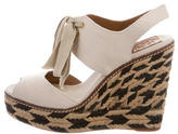 Tory Burch Lace-Up Espadrille Wedges