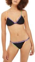 Topshop Women's Crochet Ribbon Trim Bikini Bottoms