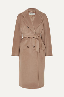 Max Mara 101801 Icon Double-breasted Wool And Cashmere-blend Coat - Camel