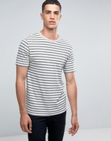 ONLY & SONS Crew Neck T-shirt with Jaquard Stripe