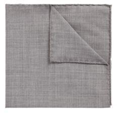 HUGO BOSS Pocket Square In Traceable Merino Wool - Light Blue
