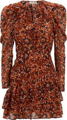Ulla Johnson Cecily Lurex Floral Mini Dress