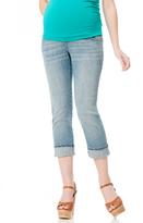 Motherhood Indigo Blue Secret Fit Belly Skinny Leg Maternity Crop Jeans