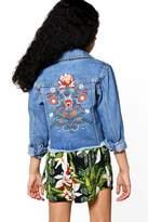 boohoo Girls Artisan Embroidered Jacket