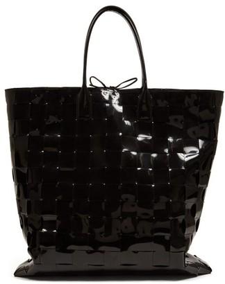 Bottega Veneta Extra-large Intrecciato Pvc Tote Bag - Black