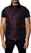 Jared Lang Aspen 2B Camo Puffer Vest, Dark Red