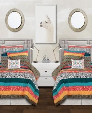 Lush Decor Bohemian Stripe 5-Piece Twin Xl Comforter Set Bedding