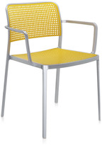 Kartell Audrey Shiny Armchair - Aluminium/Yellow