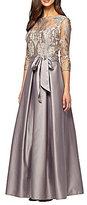 Alex Evenings Embroidered Stretch Tulle Ballgown