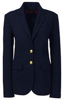 Lands' End Women's Navy Blazer-Dark Charcoal Heather