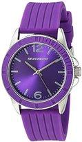 Skechers Women's Quartz Metal and Silicone Casual Watch, Color:Purple (Model: SR6093)