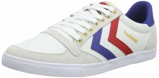 Hummel Unisex Adults Slimmer Stadil Canvas Low-Top Sneakers White (White/Blue/Red/Gum) 6.5 UK (40 EU UK)