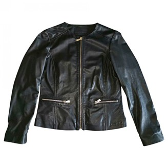 Trussardi Black Leather Jacket for Women