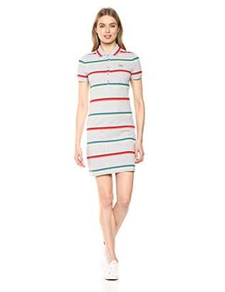 Lacoste Women's S/S Striped Cotton Pique Classic Polo Dress