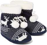 Hot Kiss Navy & White Olive Slipper