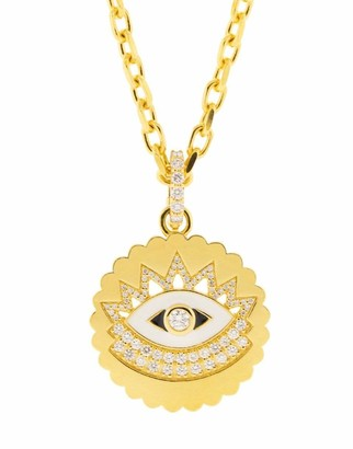 BUDDHA MAMA Enamel and Diamond Evil Eye Pendant