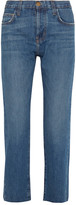 Current/Elliott The Original Straight Cropped Mid-rise Jeans - Light denim