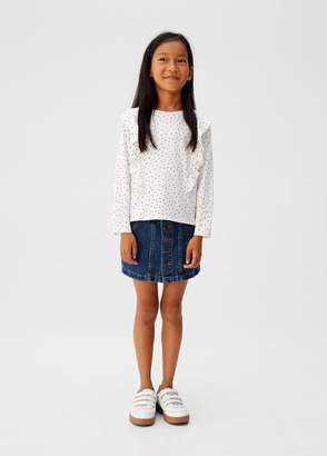 MANGO Ruffle t-shirt off white - 5 - Kids