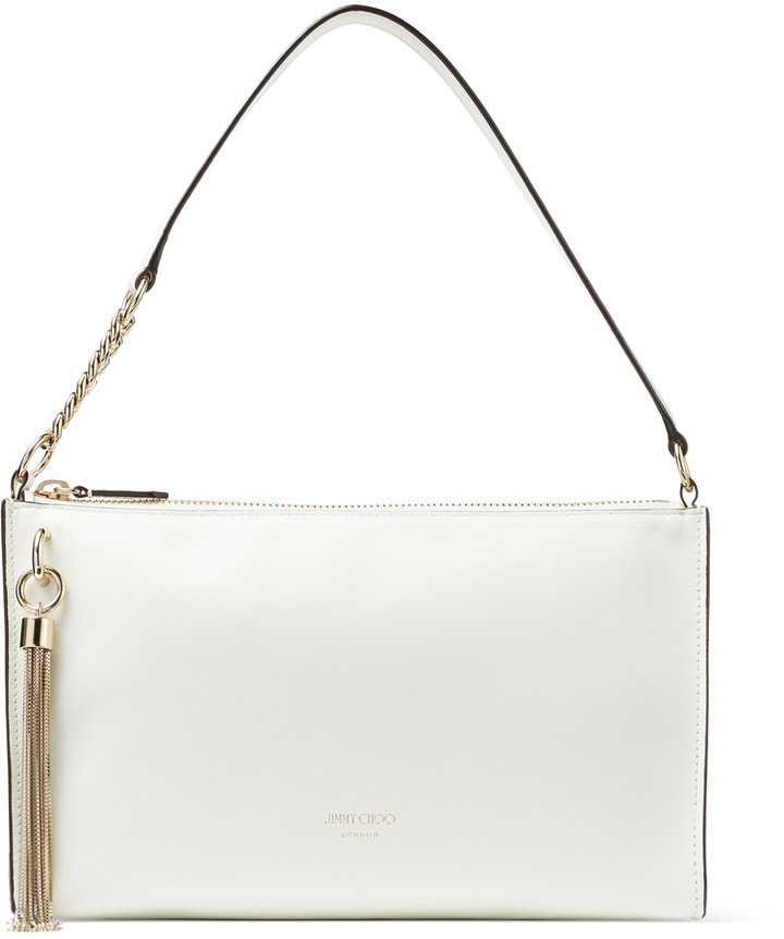 Jimmy Choo CALLIE MINI HOBO Latte Smooth Calf Leather Mini Hobo Bag