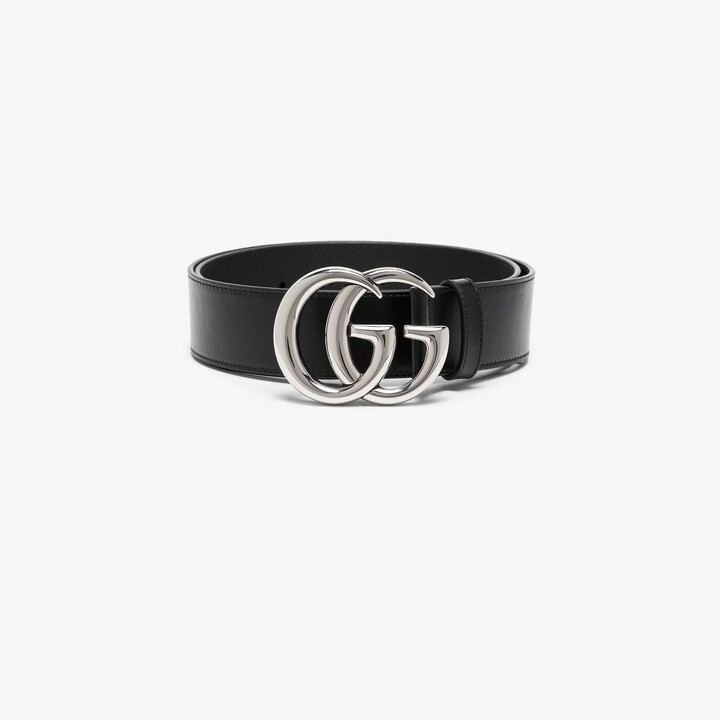 Thumbnail for your product : Gucci Black GG Marmont Leather Belt