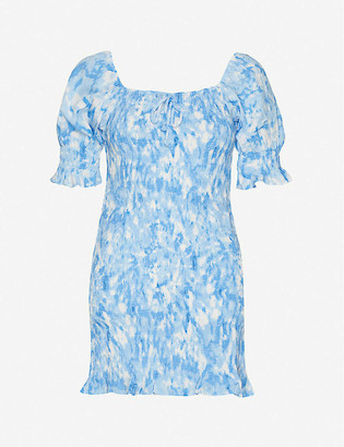 Faithfull The Brand Magnolia abstract-print rayon mini dress