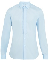 Prada Single-cuff Cotton-poplin Tuxedo Shirt
