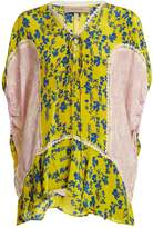 Preen Line Ivy floral-print lace-trimmed blouse