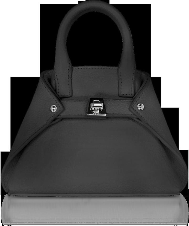 Akris Black Leather Micro Ai Crossbody Bag