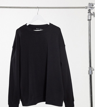 ASOS DESIGN Curve organic cotton oversized sweatshirt in black