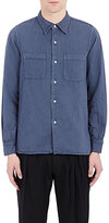 Visvim Men's Wave-Panel Shirt-BLUE