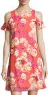 Eliza J-eliza j floralprint fluttersleeve dress pink pattern