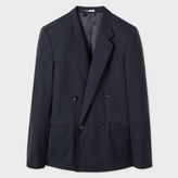 Paul Smith Men's Navy Wool And Mohair-Blend Double-Breasted Blazer