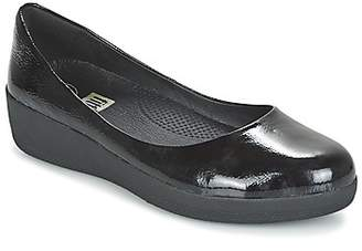 FitFlop PATENT SUPERBALLERINA women's Shoes (Pumps / Ballerinas) in Black