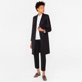 Paul Smith Women's Navy Wool-Cashmere Epsom Coat