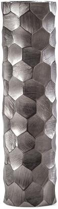 Torre & Tagus Linus Chiseled Brushed Cylinder Vase Large