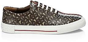Burberry Men's WIlson Monogram Stripe Canvas Sneakers