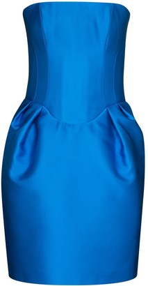 Rasario Strapless Duchesse-Satin Mini Dress