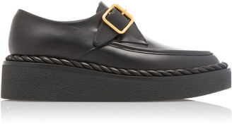 Valentino Garavani Leather Monk-Strap Platform Loafers