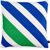 "Tommy Hilfiger Diagonal Stripe 18"" Square Decorative Pillow"